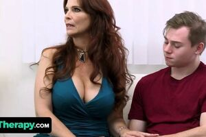 Wild Teenager Boinks His Thick Knockers Stepmom And The Molten Mummy Doctor